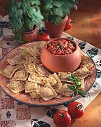 Toasted Ravioli with Fresh Tomato-Basil Salsa
