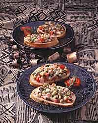 Rosemary-Roasted Vegetable Crostini