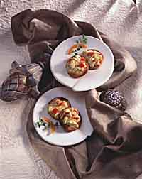 Marinated Artichoke Cheese Toasts