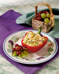 Tuna Salad Stuffed Sweet Red Pepper