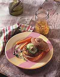 Curried Walnut Grain Burger