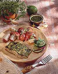 Grilled Snapper with Pesto