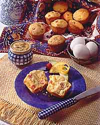 Ham and Cheese Corn Muffins