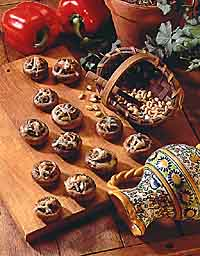 Pesto-Stuffed Mushrooms
