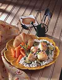 Tarragon Scallops & Zucchini