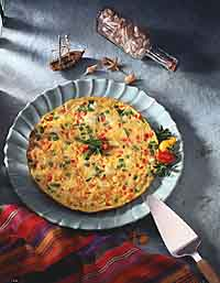 Spicy Crabmeat Frittata