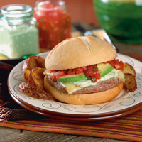 Southwest Pesto Burgers