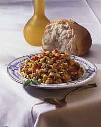 Cornbread Stuffing with Sausage and Apple