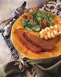 Mediterranean Microwave Meat Loaf