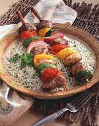 Lemon-Garlic Shish Kabobs