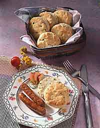 Green Onion Cream Cheese Breakfast Biscuits