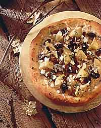Artichoke Heart, Olive and Goat Cheese Pizza