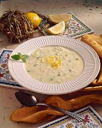Greek Lemon and Rice Soup