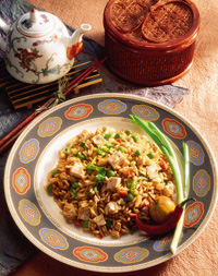 Spicy Fried Rice with Tofu
