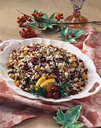 Wild Rice with Dried Apricots and Cranberries
