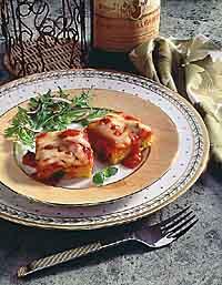 Polenta Squares with Chunky Tomato Sauce