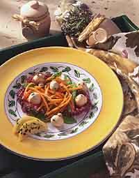 Marinated Mushrooms, Carrots and Snow Peas