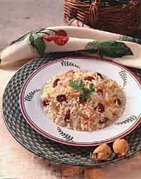 Rice Pilaf with Dried Cherries and Almonds