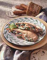 Mediterranean Pita Sandwiches