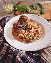 Creole Chicken Thighs & Rice