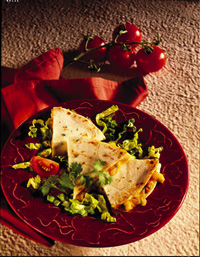 Spicy Vegetable Quesadillas
