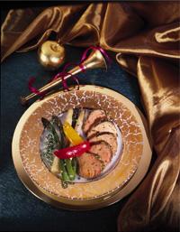 Mustard-Crusted Roast Pork Tenderloin & Vegetables