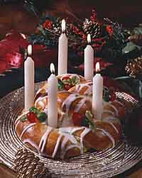 Santa Lucia Bread Wreath