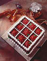 Pretty Poinsettia Cake