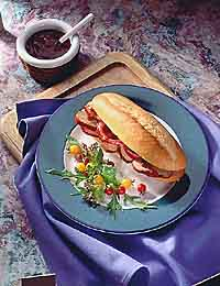 Barbecued Pork Tenderloin Sandwich