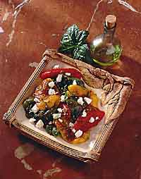 Grilled Tri-Colored Pepper Salad