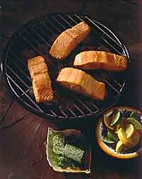 Grilled Salmon With Cilantro Butter