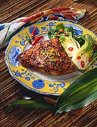 Grilled Swordfish With Hot Red Sauce