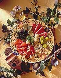Antipasto with Marinated Mushrooms