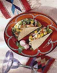 Seafood Tacos with Fruit Salsa