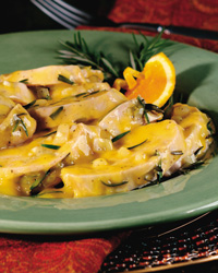 Herbed Turkey Breast with Orange Sauce