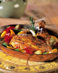 Roast Chicken with Peppers