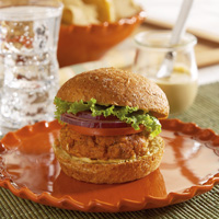 Salmon Pattie Burger