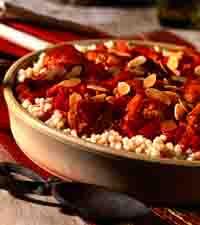 Moroccan Chicken, Apricot & Almond Casserole