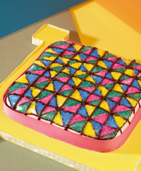 Brownie Quilt Cake