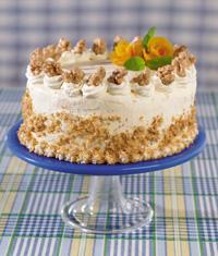 Walnut-Orange Torte with Apricot Cream