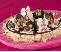 Brownie Zoo Cake