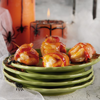 Apricot BBQ Glazed Shrimp and Bacon