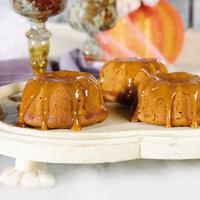 Pumpkin Bundtings with Apple Cider Glaze
