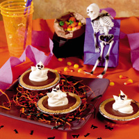 Spooky French Silk Cream Tarts