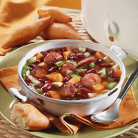 Red Bean Soup with Andouille Sausage