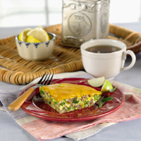 Cheddary Sausage Frittata