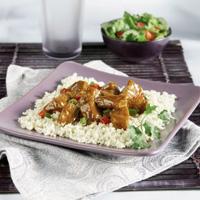 Pork Curry over Cauliflower Couscous
