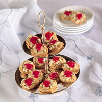 Chocolate-Almond Meringue Puffs