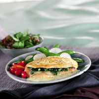 Spinach, Cheese and Prosciutto-Stuffed Chicken Breast
