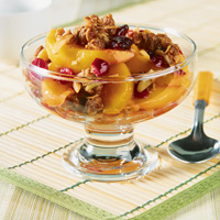 Cranberry Peach Almond Crisp